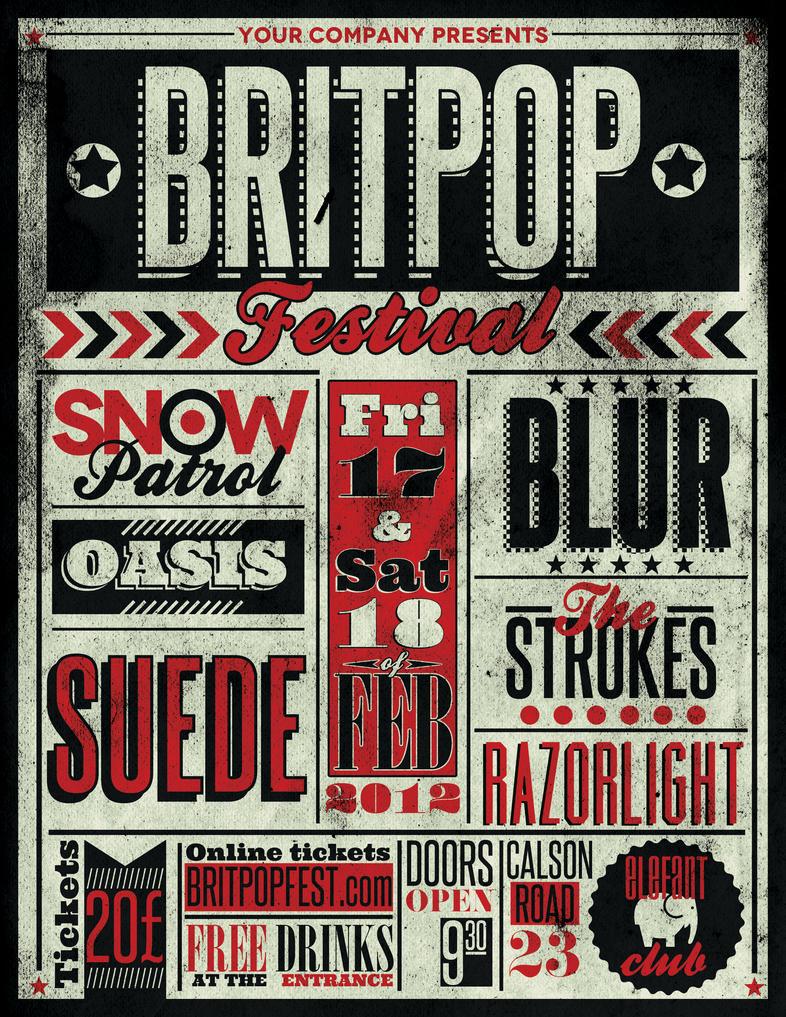 typography gig poster flyer 1 by zamfiraugustin on deviantart