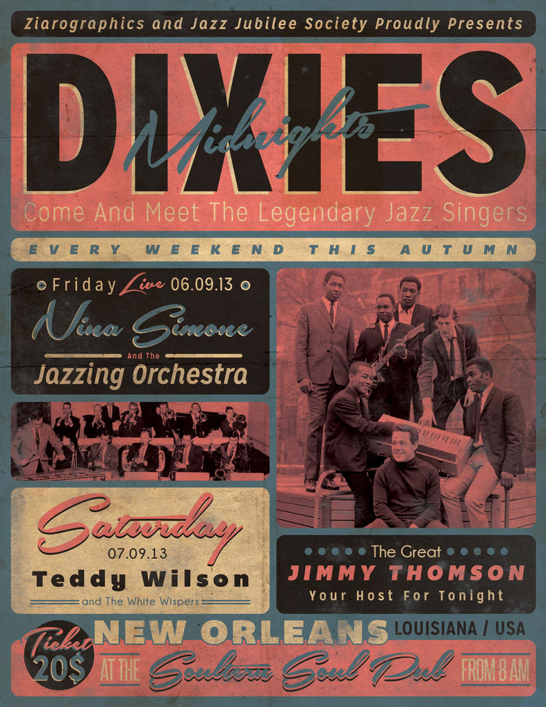 Vintage Jazz Event Poster/Flyer by ZamfirAugustin on ...