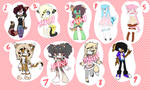 Reselling old adopts/characters [lowered prices]
