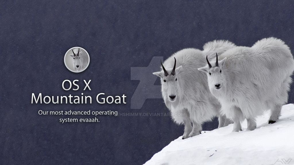 OS X Mountain Goat. by TehShimmy