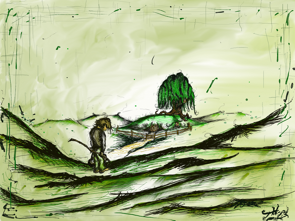 Bilbo Leaves The Shire by TimmyJHill
