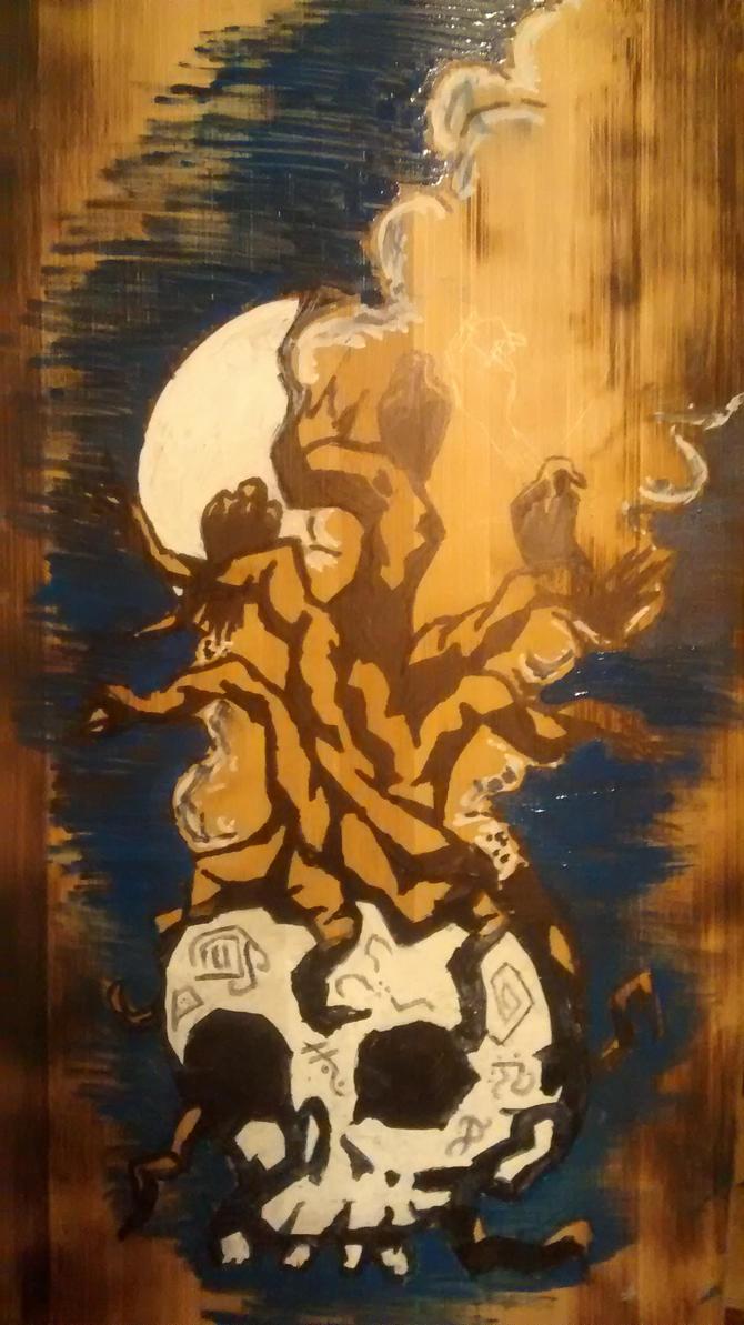 Skull skate deck by TimmyJHill