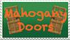 Mahogany Doors Stamp by EmberTheDragonlord