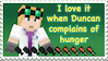 Hungry Duncan Stamp by EmberTheDragonlord