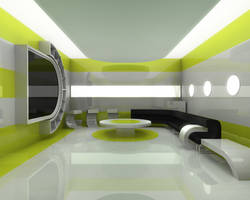 Modern Interior Scene by vinayg
