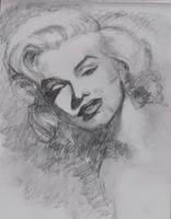 Marilyn Monroe Graphite drawing by monkeygareth