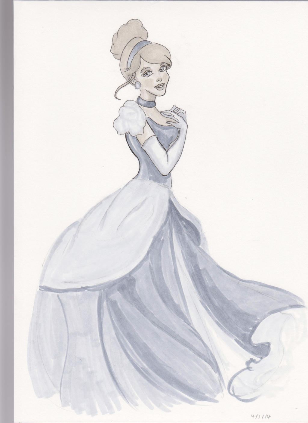Cinderella copic ciao sketch by monkeygareth on DeviantArt
