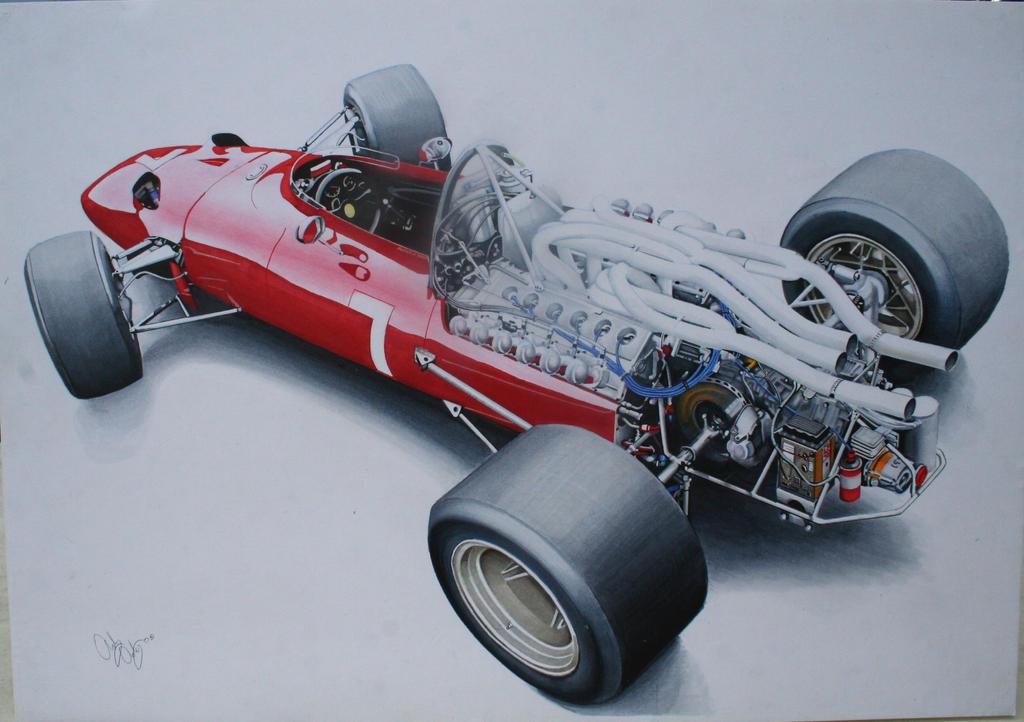 1967 Ferrari 312 F1 by AceAndrew7