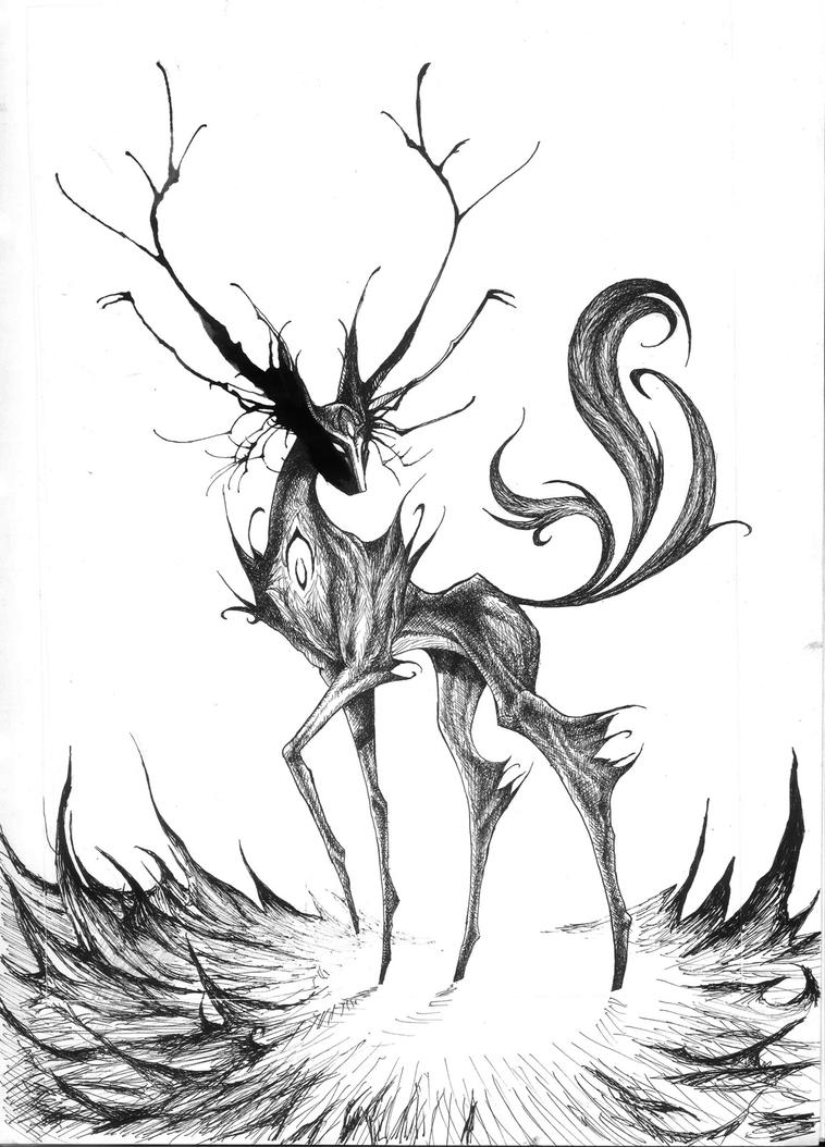 Uncategorized Cool Monsters To Draw spirit of the wild ink monster by peter709 on deviantart peter709