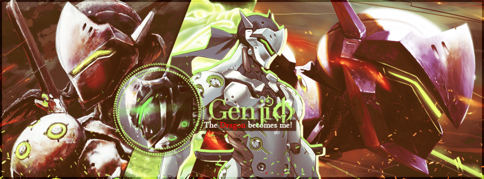 Genji Overwatch Banner by LibraDesigns