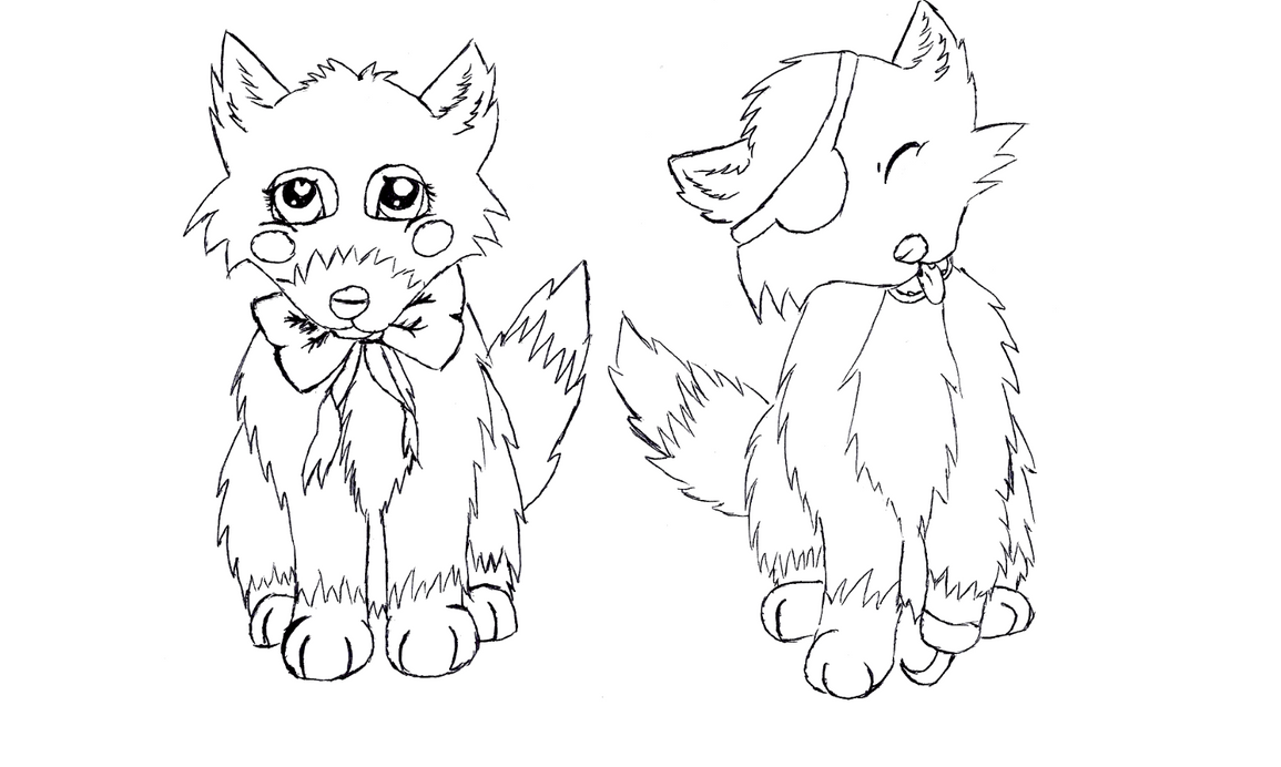 Zoella Line Drawing : Foxy and mangle free colouring pages