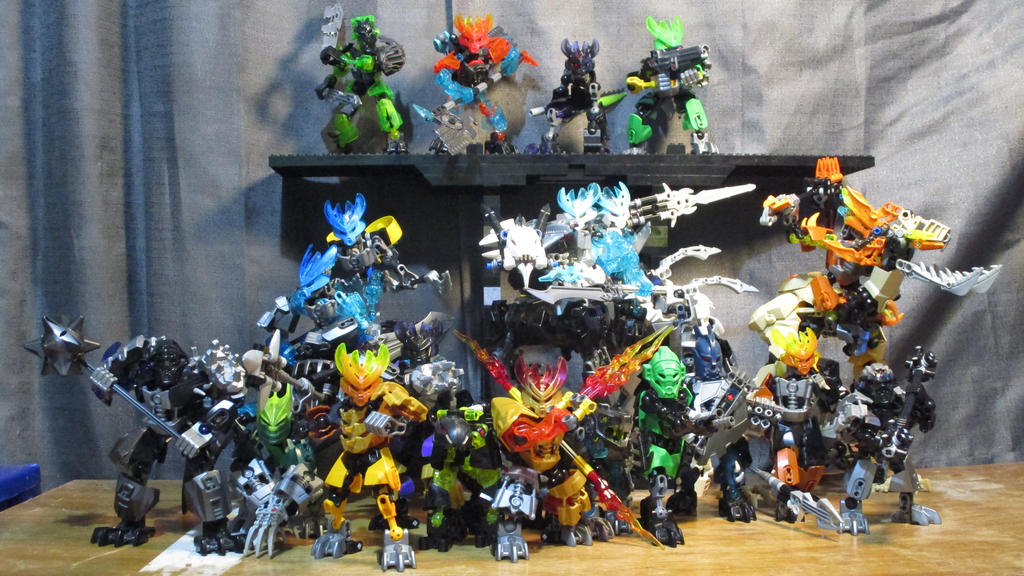 the entirety of matoran attack team or (M.A.T) by RoZilla42