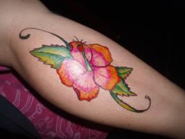 sharpie hibiscus by originalclosetnerd