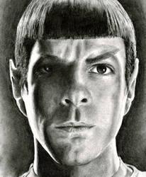 Zach quinto as Spock by originalclosetnerd