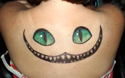 Cheshire smile in Sharpie by originalclosetnerd