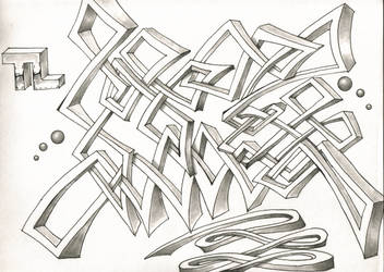 Random graffiti style by originalclosetnerd