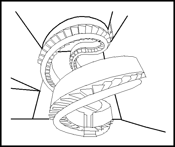 spiral staircase coloring page by boozhah