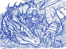 Pyder and Malixen - rough sketch