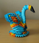 + Small Blue Swan (3D Origami)