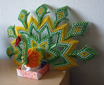 Russian Peacock (3D Origami)