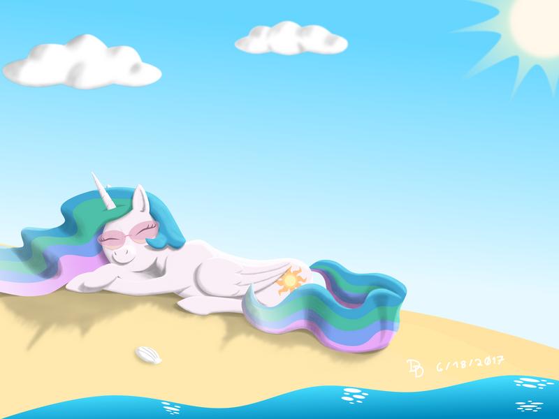 Sun at the beach - Redo by DarkDabula