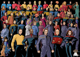 star trek group shot by nightwing1975
