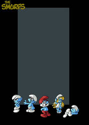 the smurfs by nightwing1975