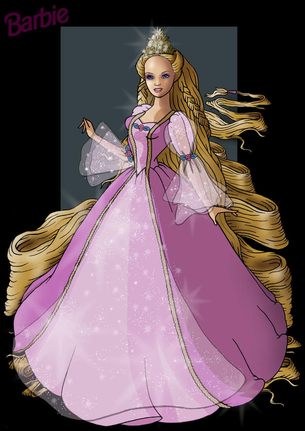 barbie rapunzel by nightwing1975