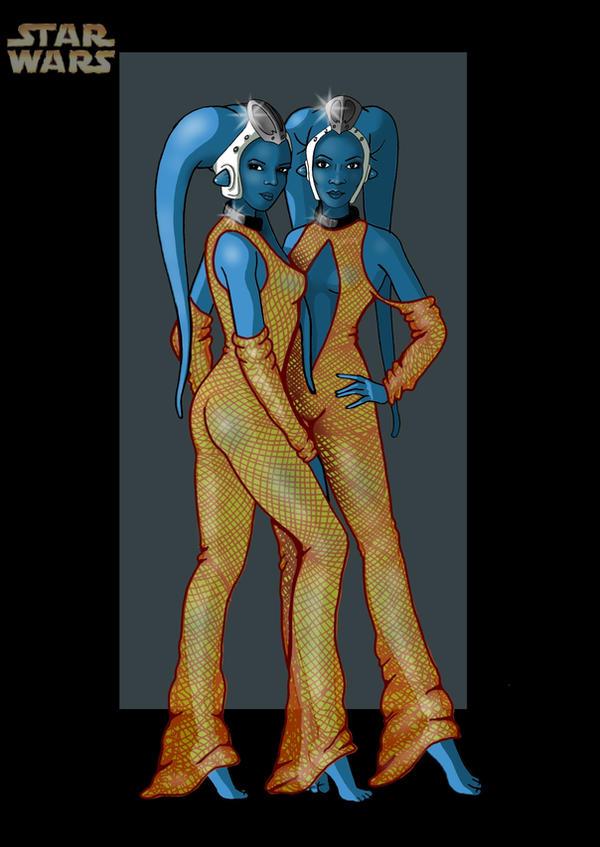 ann and tann gella by nightwing1975