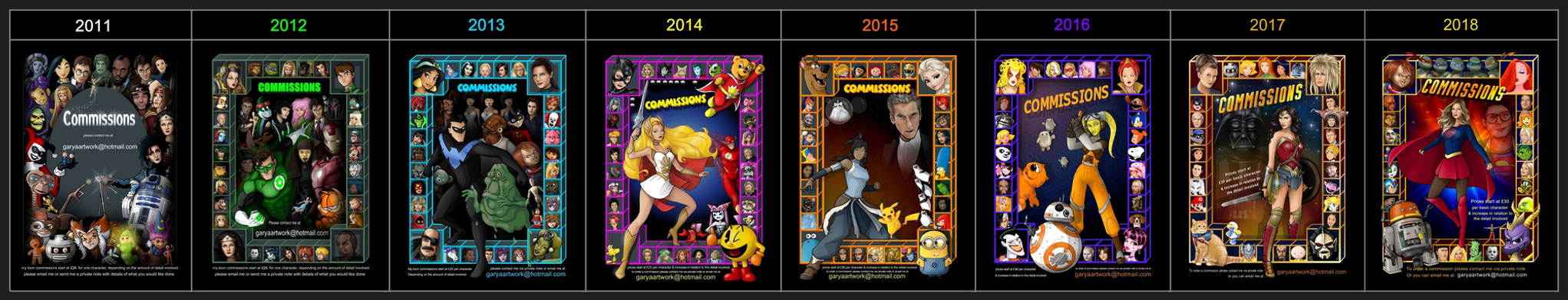 toon commissions 2011 to 2018