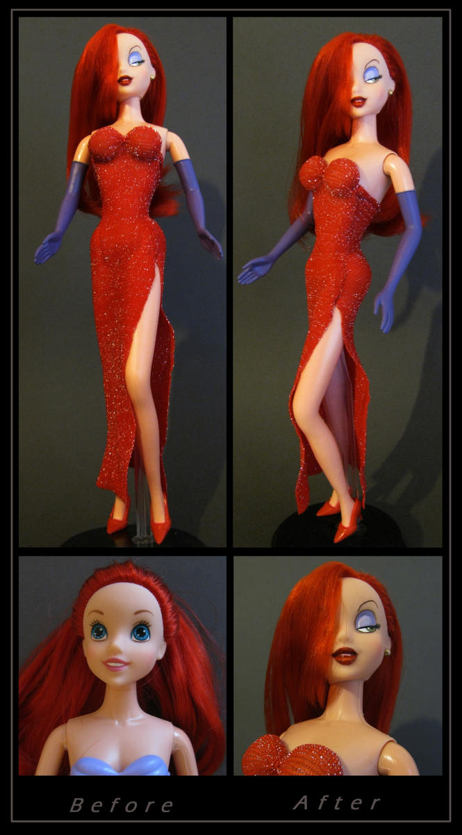 jessica rabbit custom doll by nightwing1975