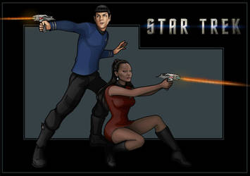 spock and uhura  -  commission by nightwing1975