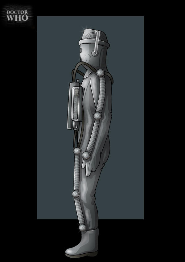 moonbase cyberman side view  -  commission by nightwing1975