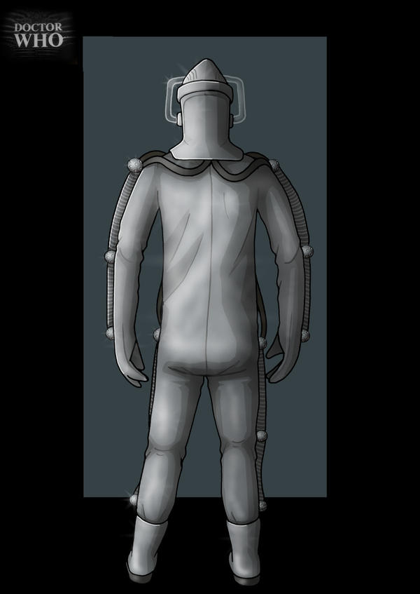 moonbase cyberman back view  -  commission by nightwing1975