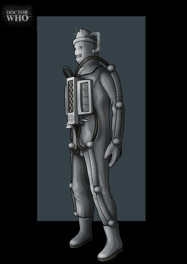 moonbase cyberman 3/4 left view  -  commission by nightwing1975