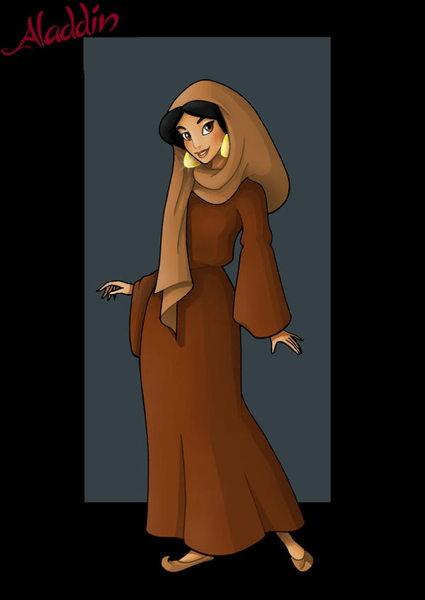 princess jasmine  -  peasant outfit by nightwing1975