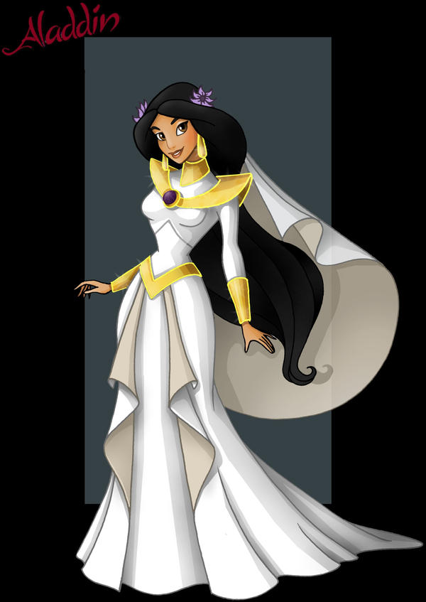 princess jasmine  -  wedding dress by nightwing1975