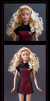 captain barbie  -  custom doll