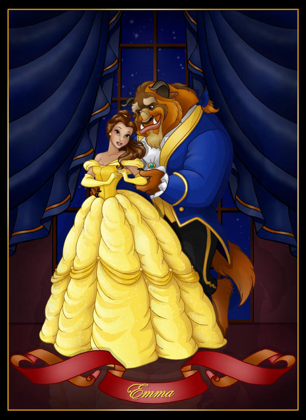 beauty and the beast  -  commission by nightwing1975