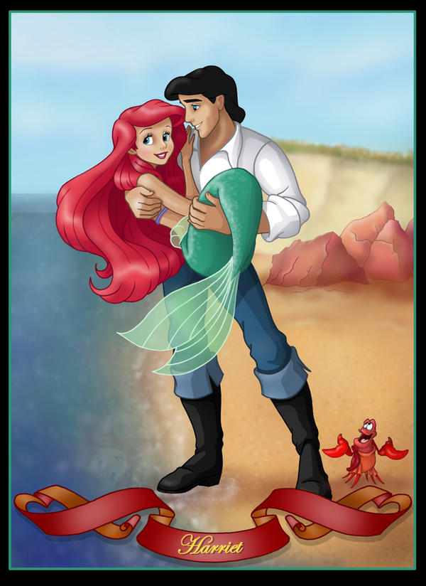 ariel and eric commission by nightwing1975 on DeviantArt