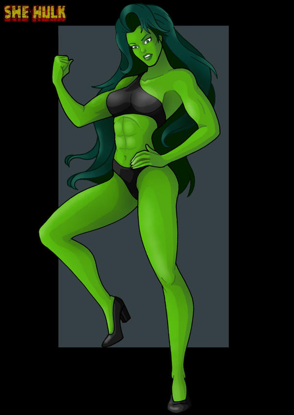 she hulk  -  commission by nightwing1975