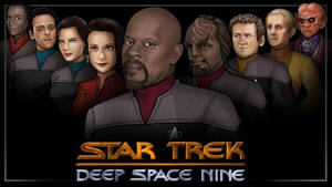 main cast - star trek DS9 by nightwing1975
