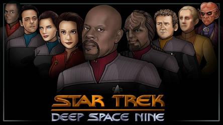 main cast - star trek DS9 by nightwing1975