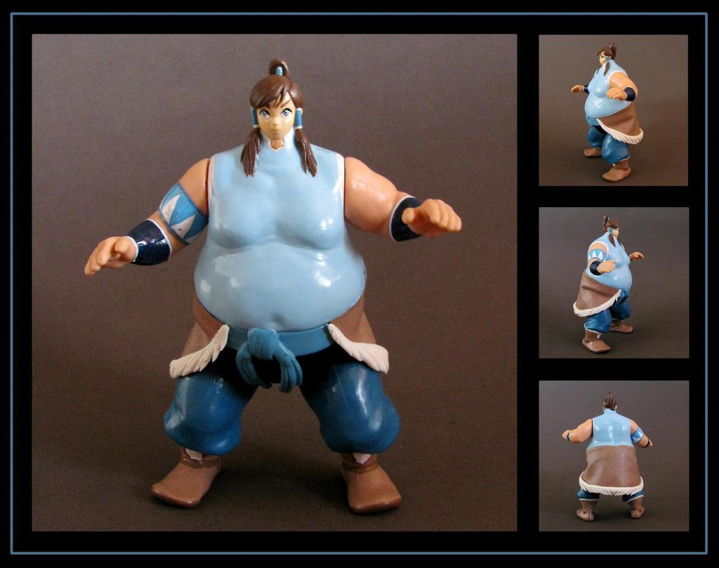 korra (giant sumo) custom figure - commission