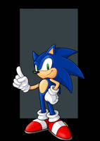 sonic the hedgehog  -  commission by nightwing1975