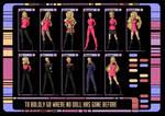 barbie star trek poster design