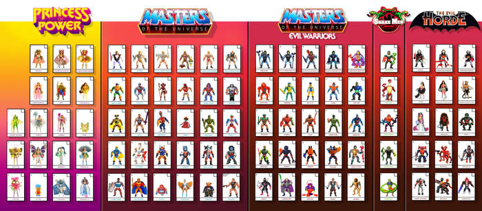 vintage he-man and she-ra action figure check list