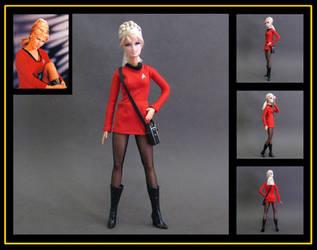 yeoman janice rand (star trek barbie) custom doll by nightwing1975