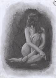 Sitting model by SebbyChanArt