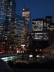 Toronto at Night by chrisklinowski